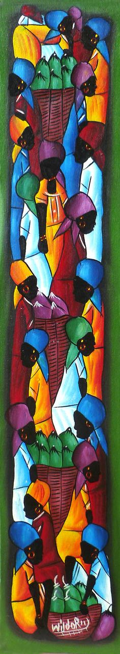 Art of Haiti  Haitian Painting Canvas Art Painted by TropicAccents