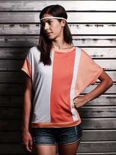 Streetwear - eisbörg Sandwich Shirt mandarine - ein Designerstück von eisboerg bei DaWanda