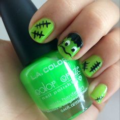 DIY manicure of the week: Young Frankenstein