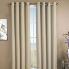 Ricardo Trading Ultimate Black-Out Grommet Blackout Single Curtain Panel Size: W x L, Color: Espresso Rod Pocket Curtains, Grommet Curtains, Drapes Curtains, Blackout Panels, Blackout Curtains, Thing 1, Curtain Styles, Custom Curtains, Colorful Curtains