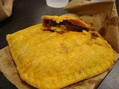 Jamaican meat patties... I ate these for a week straight in Jamaica. Yumm!