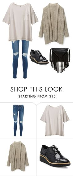 """""""M"""" by butnotperfect ❤ liked on Polyvore featuring Current/Elliott, Uniqlo, Rebecca Minkoff and J.J. Winters"""