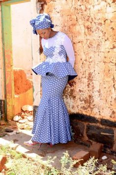 Classy picture collection of Beautiful Ankara Skirt And Blouse Styles These are the most beautiful ankara skirt and blouse trending at the moment. If you must rock anything ankara skirt and blouse styles and design. African Attire, African Wear, African Dress, Wedding Dresses South Africa, African Wedding Dress, South African Traditional Dresses, Traditional Wedding Dresses, Sotho Traditional Dresses, Traditional Styles