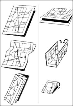MAP FOLDING TECHNIQUES  Figure B-1. Two methods of folding a map.