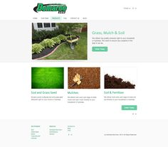 Demaree Sod products landing page. I created this in order to display the different products Demaree Sod has to offer.