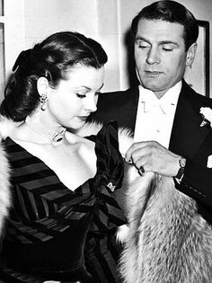 Vivien Leigh and Sir Lawrence Olivier.                                                                                                                                                                                 More