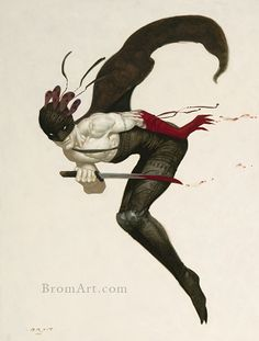 Gerald Brom. And I didn't even know that he illustrated half of the Magic The Gathering card decks. Beautiful piece by the master.