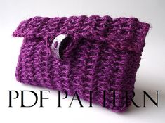 CROCHET BAG PATTERN Clutch Bag Pouch Bag by LiliaCraftParty  #knitbag #crochet
