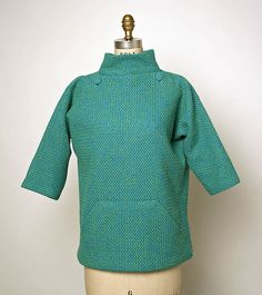 Blouse, House of Balenciaga (French, founded wool, French Funny Fashion, 1960s Fashion, Vintage Fashion, Classic Fashion, Vintage Wardrobe, Vintage Outfits, Balenciaga, Balloon Skirt, Chemise Dress