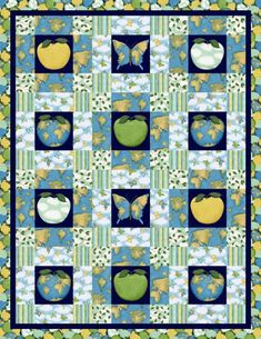 Apple Green Quilt Pattern (so cute) Cute Quilts, Mini Quilts, Green Quilt, Green Fabric, Quilt Patterns Free, Free Pattern, Quilt Bedding, Quilting Projects, Quilting Ideas