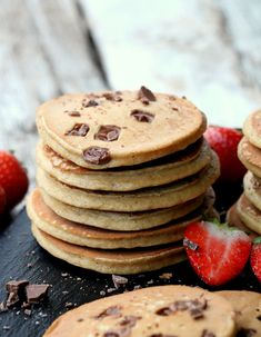 Healthy Snacks, Panna Cotta, Pancakes, Clean Eating, Food And Drink, Health Fitness, Baking, Breakfast, Desserts