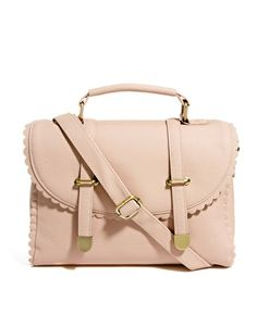 Imagen 1 de Bolso satchel con detalle festoneado de ASOS