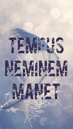 Tempus neminem manet. Time waits for no one.