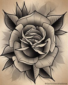Disponible in rose flower drawing Rose yo Happy thanksgiving everyone tattoo Neo Traditional Roses, Traditional Tattoo Flowers, Neo Traditional Tattoo, Chicanas Tattoo, Body Art Tattoos, Hand Tattoos, Tattoos Skull, Tattoo Flash, Rosa Old School