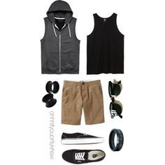 Untitled #234 by ohhhifyouonlyknew on Polyvore featuring Vans, 21 Men, Old Navy, Ray-Ban, tomboy, Lesbian, mycreations and dyke