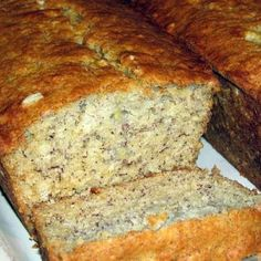 Banana Bread Sweet and Fluffy - Quick and Easy.  I only had 2 bananas, so I halved the recipe and made them in muffin tins.  I baked them for about 25 minutes and they turned out great.