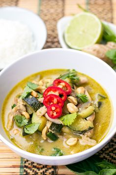 Thai Green Curry Chicken - dang that's delicious
