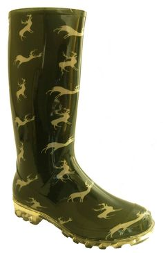 Stylish Women's Rain Boots Water Shoes High Leg With Cute Pattern Tyc158 *** You can get more details by clicking on the image.