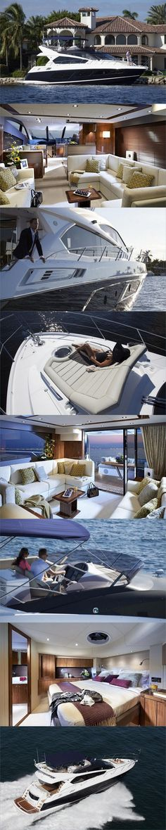 The Sunseeker Manhattan Yacht-Oh to have one of these and laze about while I travel the world....