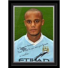 Vincent Kompany signed PhotoThis is a fantastic present for any Manchester City fan and is approved and fully licensed by Man City.    This is a unique gift displaying the player's photo and a personalised message alongside his replica printed autograph.     Choose from Adam Johnson, Kolorov,  Pantilimon,Tevez, Silva, Dzeko, Clichy, Barry, Hart, Milner, Kolo Toure, Ballotelli, De Jong, Zabaleta, Mancini, Kompany, Yaya Toure, Nasri, Aguero & Savic. Kolo Toure, Adam Johnson, Vincent Kompany, Manchester City, Gifts For Boys, Unique Gifts, Football, Fan, Baseball Cards