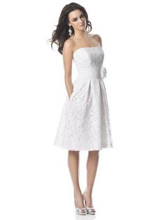 The wedding dress I want. Something simple with eyelet covering. But with a horizon blue sash and bow in the back. But maybe a little longer