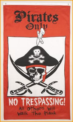 Halloween Decorations Pirates Only Halloween Flag Decoration