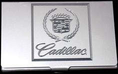 CADILLAC Car Logo Engraved Business Favor Credit ID Card Holder Gift BUS-0305