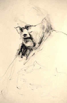 Frank Hobbs  Etching ink and cotton swab on laid rag paper