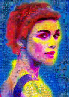 """The Whitee Queen  Collage: Paint on Canvas.  Size: 70 H x 50 W x 5 in  """"I always think about you when things aren't going well."""" Keira Knightley made out of abstracts"""