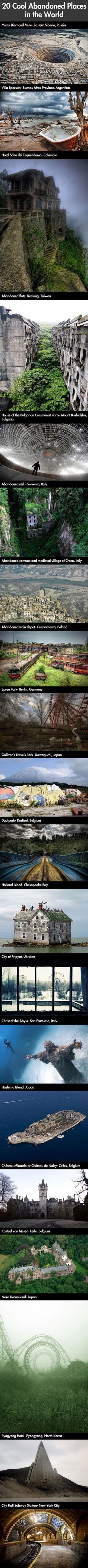Amazing abandoned places in the world.