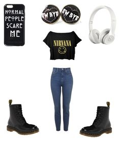 """Hipster"" by afashionfangirl230 on Polyvore featuring Dr. Martens and Beats by Dr. Dre"