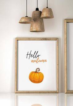 Nursery Wall Art, Wall Art Decor, Pumpkin Printable, Jpg File, Kitchen Wall Art, Hello Autumn, Wall Art Sets, Pumpkin Decorating, Fall Home Decor