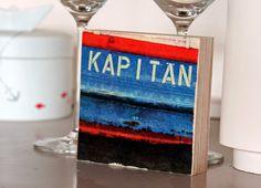 """""""Kapitän"""" Barkasse im Hafen von Hamburg"""