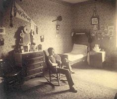 Great photo of a Dickinson College dorm room in 1890!