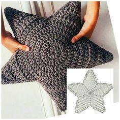 Crochet Cushions, Crochet Pillow, Diy Crochet, Crochet Doilies, Crochet Stone, Crochet Cross, Beginner Crochet Projects, Crochet For Beginners, Baby Knitting Patterns