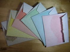 Assorted color ombre handmade recycled paper by RusticandSimple