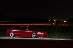 Honda Civic EK Red - Amazing shot !  #Honda #HondaCivic #HondaCars