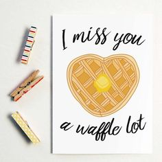 Food Puns and Cards just go together! Long distance relationship Greeting Cards available at http://byseaandsky.com