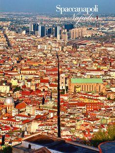 Naples (Italian: Napoli) skyline in Campania region_ Italy Italian Beauty, Naples Italy, Vatican City, Best Cities, Amalfi, Rome, Countries, City Photo, Capri