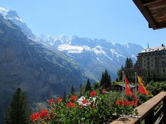 Mürren, Switzerland - a beautiful village with no cars allowed, high in the Bernese Oberland