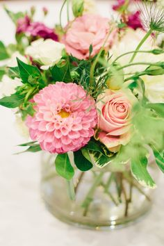 Pink centerpiece by Blossom Sweet.