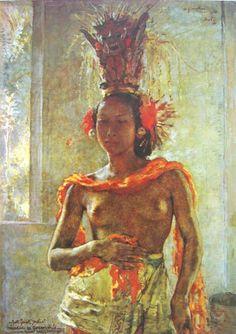 Willem Gerard Hofker - Gadis Bali pada upacara melis