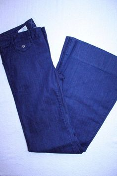 GAP Jeans 2 Dark Wash 1969 Flared Bell Bottom Wide Leg Modern Trouser Denim Pant #GAP #WideLeg