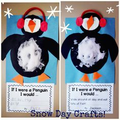 Winter penguin craft
