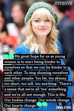 ~ Emma Stone 《this should carry on to all ages!》