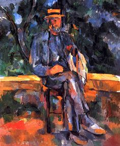 Paysan au canotier (1906) - Paul Cezanne