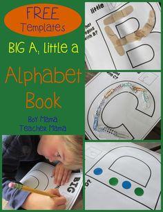 Teacher Mama: FREE Big A Little a Alphabet Book
