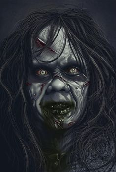 Regan The Exorcist Exorcist Movie, The Exorcist, Horror Posters, Horror Icons, Zombies, Scary Wallpaper, Horror Drawing, Horror Pictures, Horror Artwork