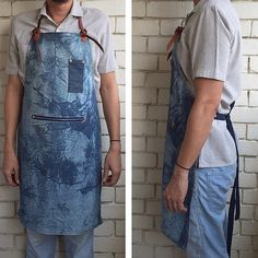 Handmade indigo dyed canvas apron with leather strap and copper rivet details.#art#shibori#newage#indigo#canvas#wearableart#barber#cafe#coffee#barista#apronswag#leather#copperrivet#baking#cooking#indigo#denim#cafesg#madeinsingapore#sgcraft#coffeesg#hipster#fashion
