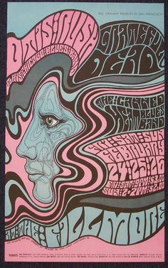 Grateful Dead concert poster by Wes Wilson